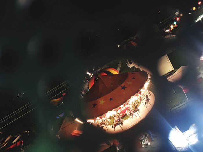 Carousel Fire - Natural Phenomenon Flame Illuminated Preparation  Burning Dark Nightlife Adventure