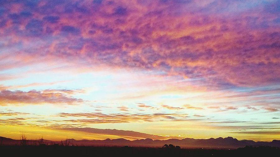 Mountain Multi Colored Silhouette Horizon Dramatic Sky Tree Orange Color Sky Romantic Sky Atmospheric Mood Cloudscape Moody Sky The Great Outdoors - 2018 EyeEm Awards