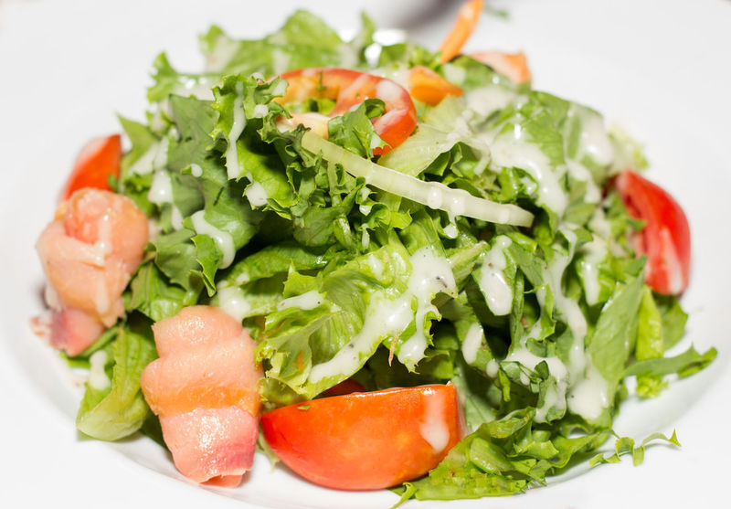 Vegetable Salad with Bacon Strips! Bacon Cuisine Food Freshness Healthy Eating Healthy Lifestyle Lettuce Onions Restaurant Salad Salad Salad Vegetable Tomato Vegetable Salad Vegetables