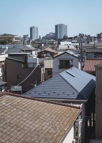 Tokyo, Japan, 2018. 7514 https://instagram.com/p/BnjAyzSFBKP/ EyeEmNewHere Japan Photography Architecture Built Structure Building Exterior City Sky Building Roof Residential District Cityscape Sunlight Outdoors Clear Sky