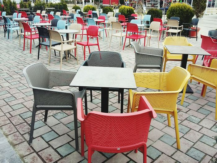 Hanging Out Taking Photos Vscocam VSCO City Life City Chairs Colors Colorful Bar Klina Kosovo