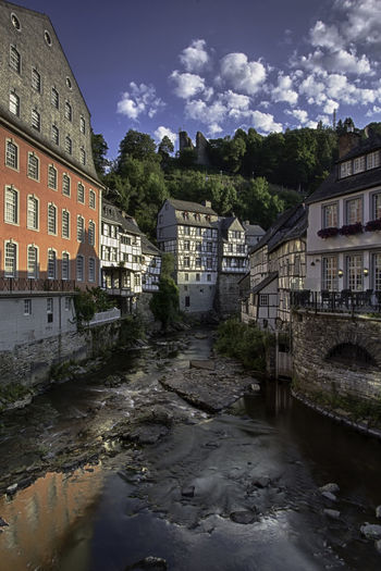 Cityscape Monschau Monschau Eifel Germany River View Architecture Building Building Exterior Built Structure City Cityscape Photography cityscapes Cloud - Sky Day Germany Nature No People Outdoors Reflection River Sky Water
