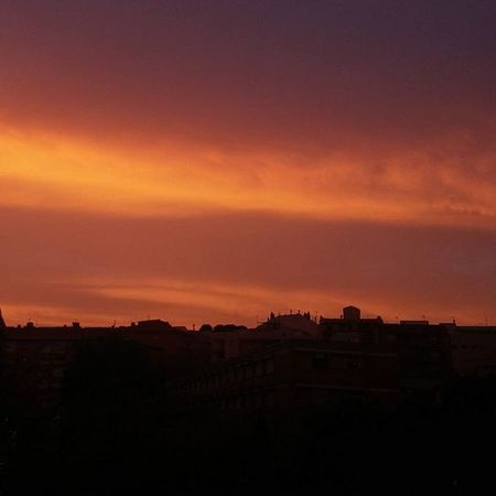 Cloudy sunset Cloudy Clouds Sunset Nofilters Lowexposure Onfire Barcelona Catalunya