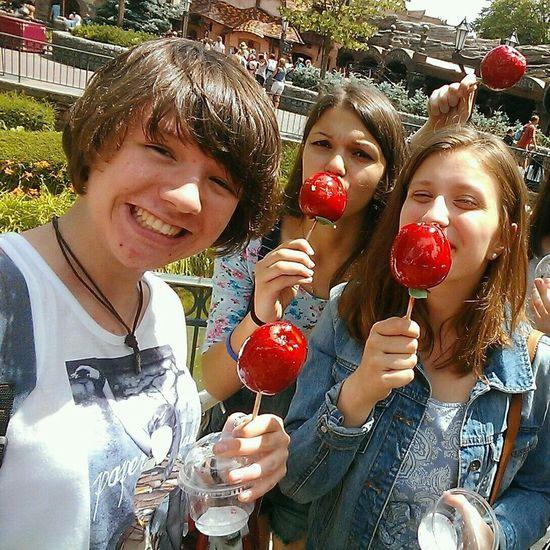 Disneyland Caramel Apples Friends Colour Portrait