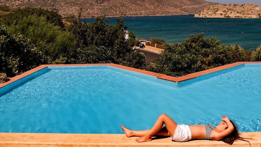 Enjoying The Sun Beautiful Surroundings Resting Relaxing Pool Chilling Hanging Out Landscape Sun Nice Atmosphere Getting A Tan Keeping Focus In Life Crete Greece