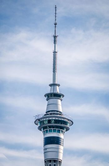 Low Angle View Of Sky Tower Against Sky
