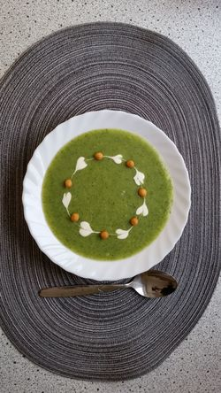 Plate Healthy Eating Food Meal No People Freshness Indoors  Ready-to-eat Soup Broccoli Garnish