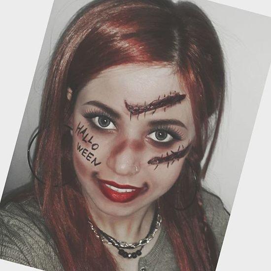 Halloween make-up👿💀👻👽🎨🎭 Halloween Halloweenmakeup Halloweenparty Makeup make makyaj