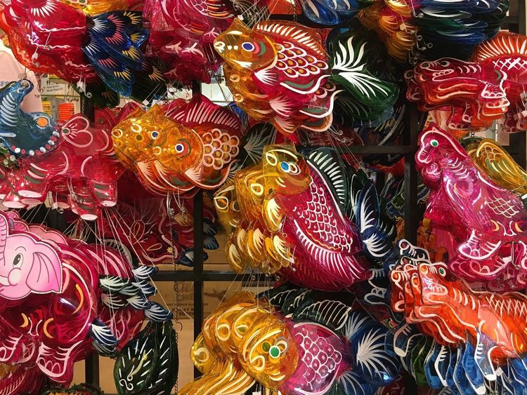 Traditional Lantern Full Frame Backgrounds Multi Colored Choice No People Variation For Sale Abundance Large Group Of Objects Art And Craft Retail  Indoors  Pattern Creativity Collection Market Arrangement Still Life Animal Representation Close-up