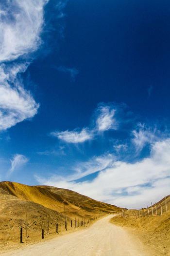 Scenic view of road against sky