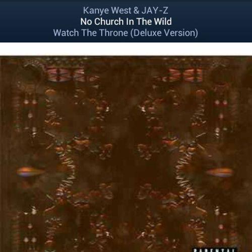 The jam going home on this hot day! Kanyewestandjayz NoChurchInTheWild with Starbucks Passioniceteawithlemonade