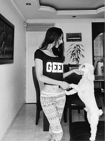 Hello World Dog❤ Mydog♡ Modelgirl Body & Fitness Colombiangirl Enjoying Life Colombiagirls Enjoying Life