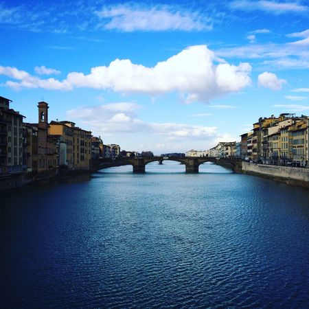 Firenze - Italy Italy Vacations Voyages Italie Destination Bridge - Man Made Structure Architecture Cityscape Built Structure Sky Connection Travel Destinations Urban Skyline City No People Blue
