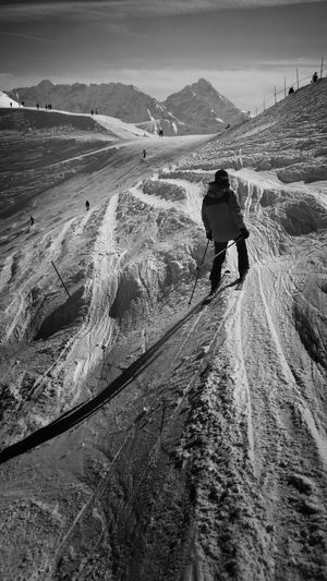Blackandwhite Monochrome Minimallandscape Traveling Skiing Light And Shadow Landscape_Collection EyeEm Nature Lover Simplicity Landscape Shootermag IPhoneography IPhone