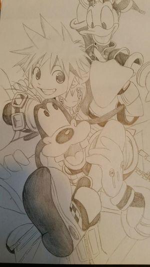 Fan Art Fan Art Manga~ In Vendita Matite Kingdom Hearts