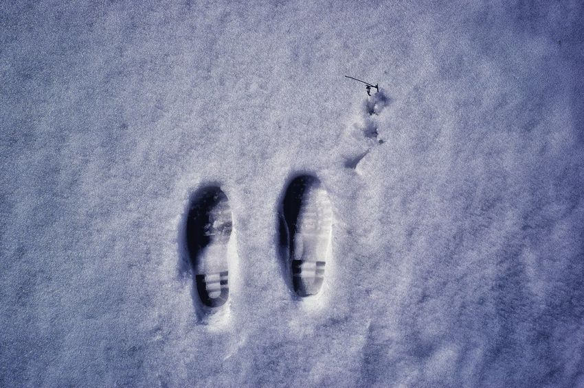 Footsteps On Snow Hill Station Chilly Weather Day Outdoors High Altitude Hiking Adventures Mountain Peak Snow Capped Mountains Skiing Resort Sunlight And Shadow Backgrounds Full Frame Cold Temperature Fingerprint Winter Close-up FootPrint Track - Imprint Snow Covered Weather Condition Cold Snow White Ski Track Surface Inner Power Summer Exploratorium Visual Creativity