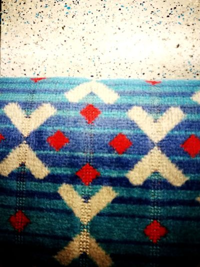 Tube ride Multi Colored Textile Close-up London Oxford Circus Underground Victoria Line Tubestation Seat Floor Blue Red