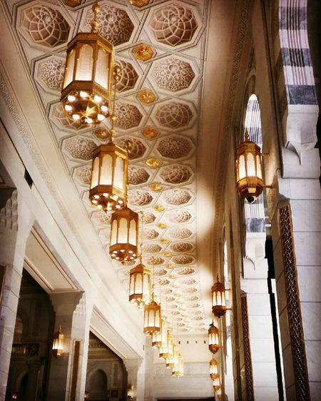 Lamps, ceiling, Religion Low Angle View Gold Colored Travel Destinations Built Structure Place Of Worship Gold Indoors  Spirituality