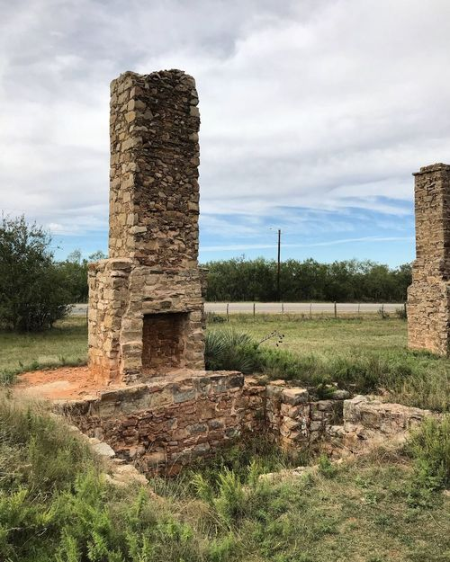 Sky Cloud - Sky Field History Day Architecture Built Structure No People Landscape Old Ruin Outdoors Grass Building Exterior Nature Tree Chimney Ancient Civilization Historic Historical