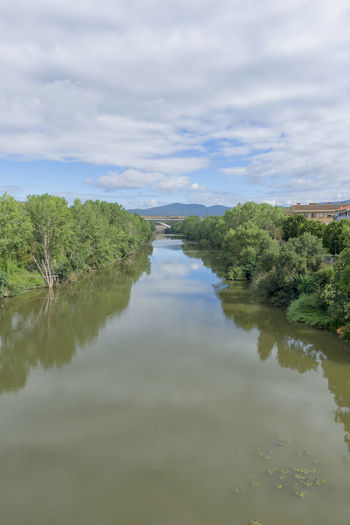 Beauty In Nature Camino De Santiago Cloud - Sky Day Nature Navarra No People Outdoors Puente La Reina Reflection Scenics Sky Tranquil Scene Tranquility Tree Water