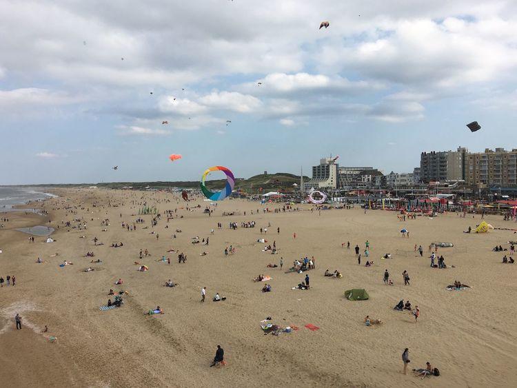Enjoy the view and kites Kites Beach Sky Relaxing Enjoyment Scheveningen  Enyoing The View