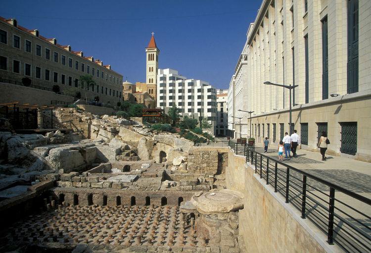 Old Ruins At Roman Baths
