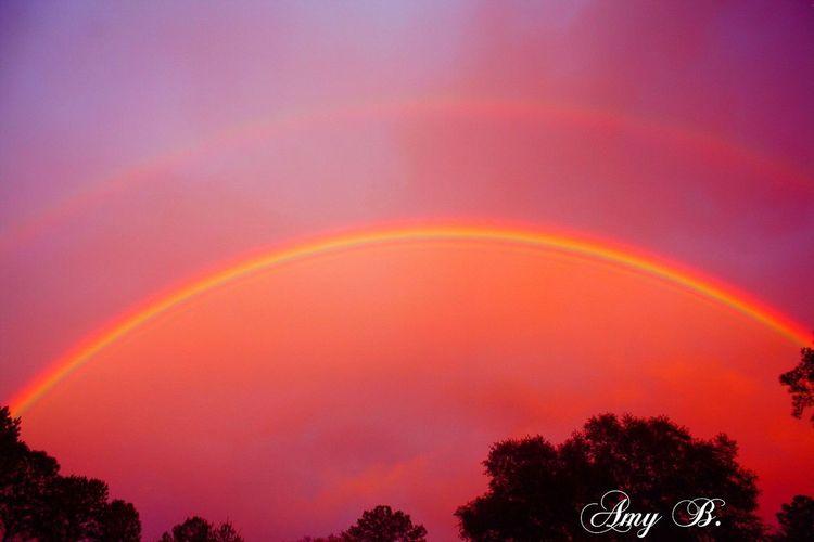 Rainbows Nature_collection Rainbowsunset EyeEm Nature Lover Naturelovers Sky Rainbow Sky Double Rainbow Mother Nature Is Amazing Mother Natures Beauty...