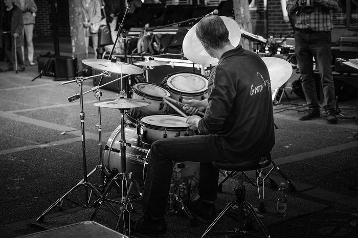 The Drummer Music Musician Streetphotography Streetmusic Street Band Drums Jazz Band Jazz Jazzband Kulturnatten Kulturnatten I Lund 2016