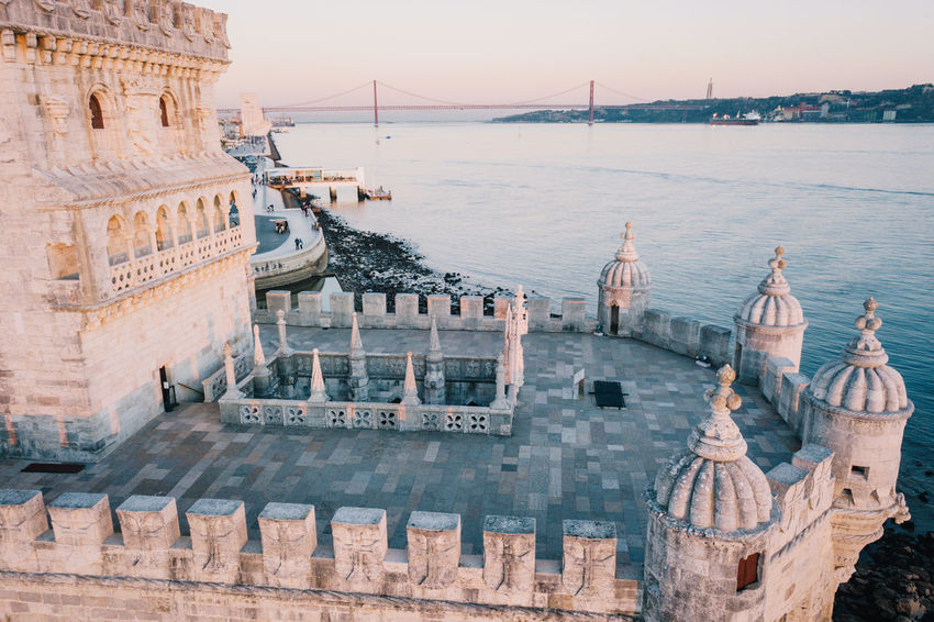 Belém Drone  Torre De Belém Travel Architecture Belem Tower Building Exterior Built Structure City Cityscape Day Drohne Dronephotography Droneshot History Lisboa Lisbon Lissabon Luftaufnahme Nautical Vessel No People Outdoors Sky Tourism Travel Travel Destinations Water