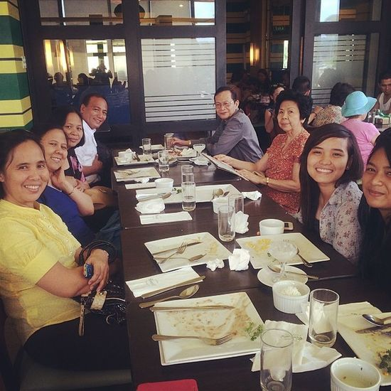 First half of the Day's solved with God's Word and sumptuous meal. Blessedsunday
