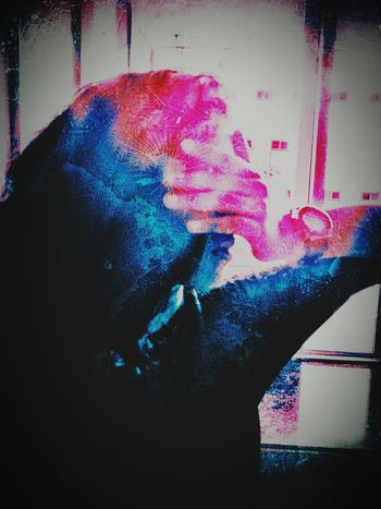 Covering Pink Female Indoors  Dramatic Hand Pixelated Human Hand Silhouette Blue Close-up Splattered Body Part