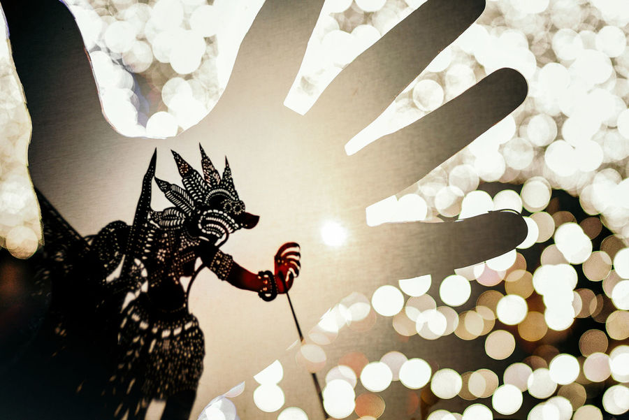 AI Now Arts And Crafts Asian Art Double Exposure Bokeh Balls Celebration Close-up Cultural Art Illuminated Indoors  Night No People Wayang Kulit An Eye For Travel Visual Creativity The Creative - 2018 EyeEm Awards