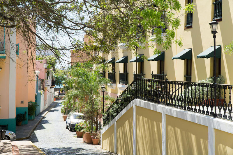 Old San Juan Old San Juan PR Architecture Building Exterior Built Structure Day Old City Streets Sunlight Yellow
