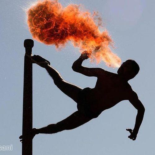 Fire Blower Malkhamb Martial Arts