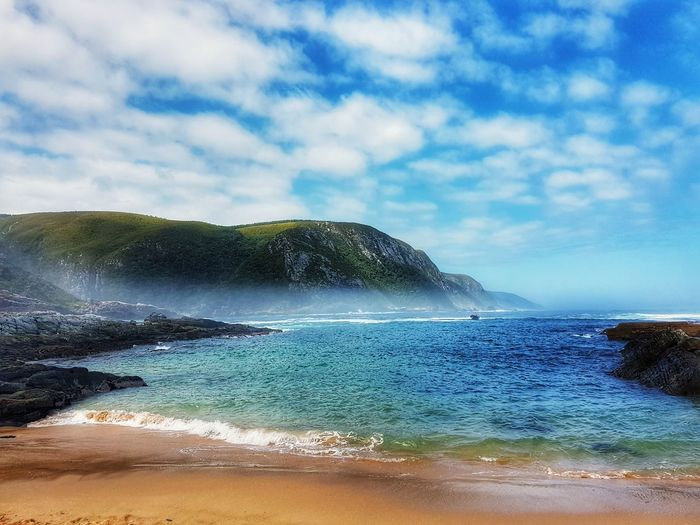 Fog over the Ocean Water Cloud - Sky Beach Sea Nature Sky Power In Nature Beauty In Nature Wave Sand Scenics