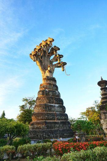 ศาลาแก้วกู่ Nongkhai Thailand Representing Sculpture Statue Sky Amusement Park