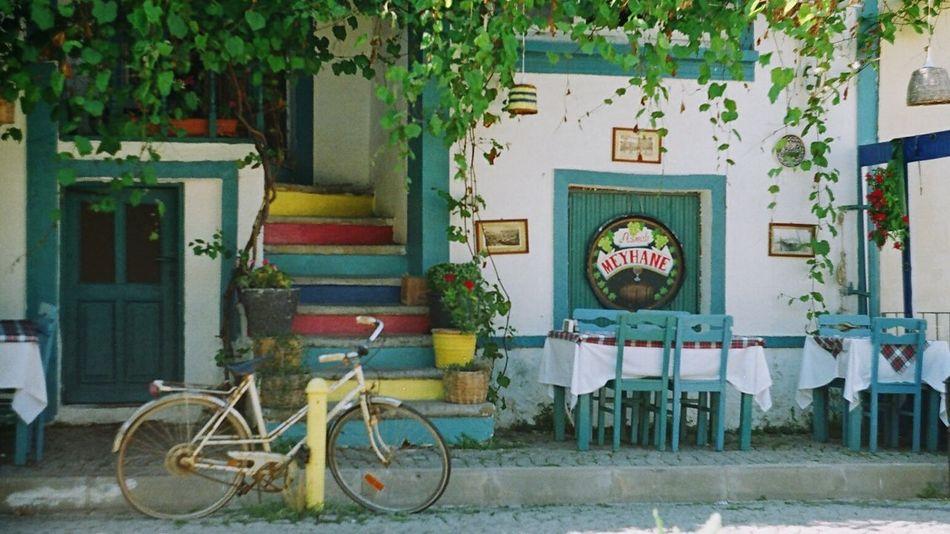Bozcaada Analogue Photography Colorful Meyhane Restaurant UrbanSpringFever