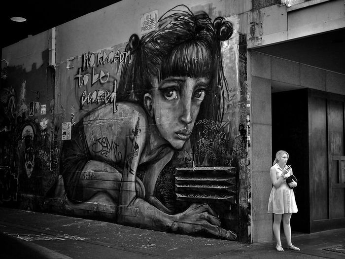 Full Length Two People Young Adult Outdoors Looking At Camera Day Lifestyles Standing Young Women Portrait Architecture Adult People Adults Only Melbourne Australia Graffiti Streetphotography Candid