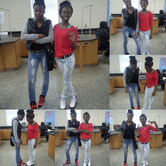 me & ty one day in school ..