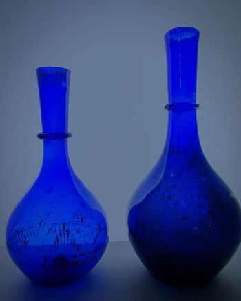 Close-up Museum Of Art Art Product Decorative Art Museum Visit Old-fashioned Glass Art Creativity Antique Glass Museum Of Glasses Handmade Art Blue Glasses