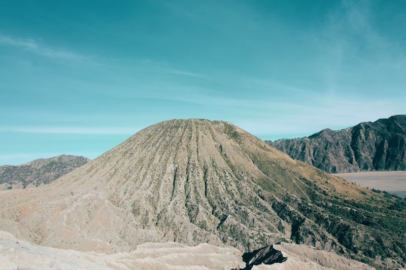 Mount Bromo Scenery Peaceful Sky Scenics - Nature Tranquil Scene Beauty In Nature Tranquility Mountain Landscape Cloud - Sky Day Nature Land Environment Non-urban Scene Desert Travel Travel Destinations Outdoors Climate
