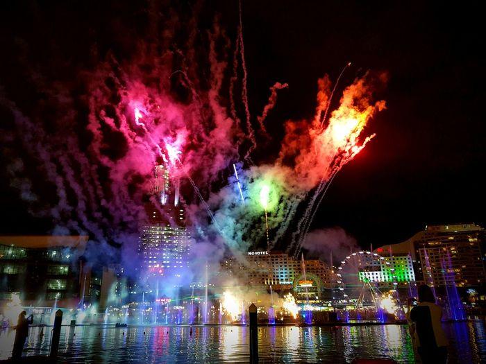 Fireworks Colour Colourful VIVID Sydney City Sydney Cities At Night Night Nightphotography