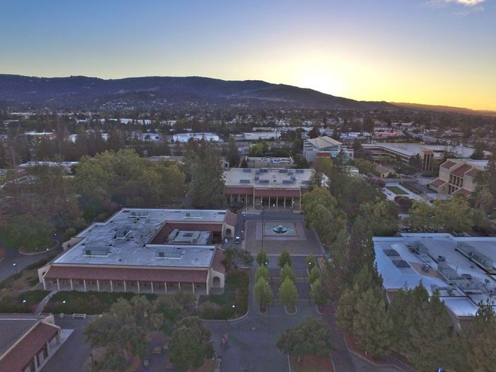 De Anza De Anza College Sunset Sunset Mountains Sunset In City Aerial View High Angle View Sky