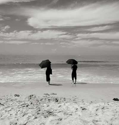 Hainan Beach Life Beach Photography Beach Umbrella Beachwalk Black & White Black And White Photography Connected By Travel