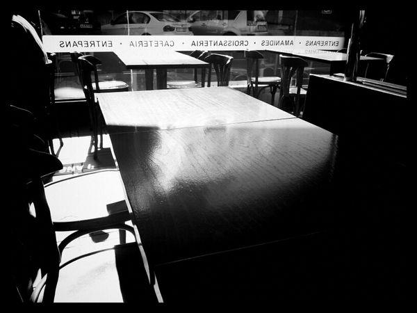 Blackandwhite Black And White Restaurant Monochrome