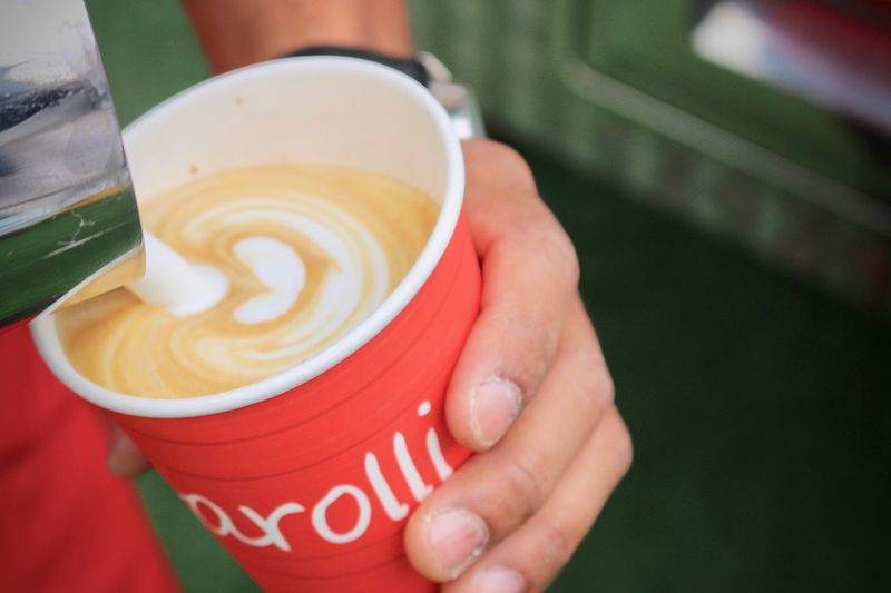 Cappuccino Close-up Coffee - Drink Coffee Cup Day Disposable Cup Drink Fairtrade Coffee Focus On Foreground Fogarolli Fogarolli Coffie Food And Drink Freshness Froth Art Frothy Drink Holding Human Body Part Human Hand Latte One Person Organic Outdoors People Real People Refreshment