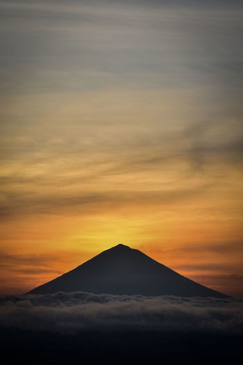 Sunset pyramid in bali
