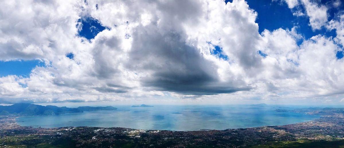 Cloud - Sky Sky Scenics Tranquility Beauty In Nature Tranquil Scene No People Outdoors Nature Day Mountain Blue Landscape Sea Cityscape Vesuvio Golfo Di Napoli Capri Ischia Napoli Mediterranean Sea
