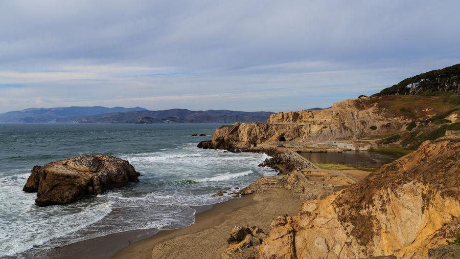 California San Francisco Sutro Bath Ruins  Seascape