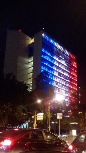 Mexican senate supporting France Mexico Mexican Senate Suport France 🇫🇷 Flag Lights And Shadows City Lights Building Global Mexico City Hello World City Street